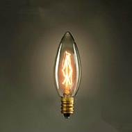 e14 25w c35 brennende spiss av det gule lyset 220v edison pære liten lo retro retro lyskilde