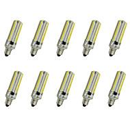 4w e14 / e17 / e12 / e11 led corn lights 152smd 3014 350-400lm varm hvit / kul hvit ac110 / 220 v 10 stk