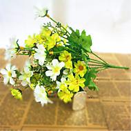 billiga Heminredning-Konstgjorda blommor 1 Gren Pastoral Stil Prästkragar Bordsblomma