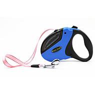 犬用品 リード 調整可能/引き込み式 自動 幾何学的な ノベルティ柄 ブルー ピンク オレンジ ナイロン シリコーン ステンレス鋼