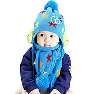 Fete Băieți Seturi de Eșarfe, Căciuli & Băști-Iarnă Îmbrăcăminte tricotată Albastru Roșu Galben