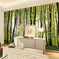 JAMMORY 3D Wallpaper For Home Contemporary Wall Covering Canvas Material Forest TreesXL XXL XXXL