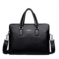 Men Bags Cowhide Tote for Formal Office & Career All Seasons Black Blue