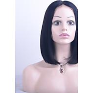 Mulher Perucas de Cabelo Natural Cabelo Humano Frente de Malha 130% Densidade Liso Peruca Preto Curto Médio Longo Riscas Naturais Para
