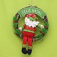 ホリデー・デコレーション クリスマスデコレーション クリスマス花輪 おもちゃ サンタスーツ ウッド ナイロン コットン 1 小品 ギフト