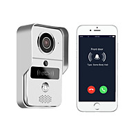 720P smart home WiFi video door phone, 2.4G wireless video door phone with RFTD card, wireless unlock メタル 撮影 記録 RFID マルチファミリービデオドアベル ワイヤレス