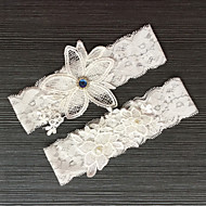 Lace Classic / Fashion Wedding Garter With Rhinestone / Lace Garters