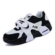 สำหรับผู้ชาย PU ฤดูใบไม้ผลิ / ตก ความสะดวกสบาย รองเท้ากีฬา สำหรับวิ่ง การป้องกันการลื่น ขาว / สีดำ