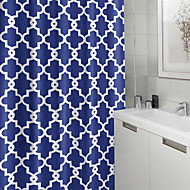 cheap Shower Curtains-Shower Curtains Neoclassical Polyester Plaid/Checkered Machine Made