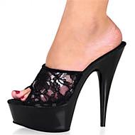 Χαμηλού Κόστους Πέδιλα με ζελέ-Γυναικεία Παπούτσια Προσαρμοσμένα Υλικά Άνοιξη Καλοκαίρι Τακούνια Τακούνι Στιλέτο Ανοικτή μύτη για Γάμου Πάρτι & Βραδινή Έξοδος Φόρεμα