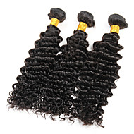 8A Brazilian Deep Wave 3 Bundles Virgin Hair Deep Curly Virgin Brazilian Hair Extensions Deep Wave Brazilian Hair Weave Bundles Human Hair 300g