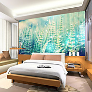 JAMMORY Art Deco Wallpaper For Home Wall Covering Canvas Adhesive Required Mural Mountain Scenery in the Morning XL XXL XXXL