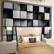 Art Deco 3D Wallpaper Otthoni Klasszikus Falburkolat , Vászon Anyag ragasztószükséglet Falfestmény , szoba Falburkoló