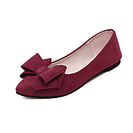 hesapli -Kadın's Ayakkabı Kırpma Sonbahar Rahat Düz Ayakkabılar Düz Taban Günlük için Fiyonk Siyah Gri Kırmızı Şarap
