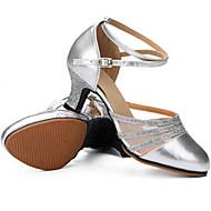 Feminino Latina Glitter Couro Salto Ensaio/Prática Iniciante Interior Exterior Apresentação Fivela Com Glitter Salto Personalizado