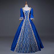 Χαμηλού Κόστους Steampunk®-Cinderella Θεά Φορέματα Στολές Ηρώων Χορός μεταμφιεσμένων Τουαλέτα Γυναικεία Ενηλίκων Rococo Μεσαίωνα Αναγέννησης Χριστούγεννα Halloween Απόκριες Γιορτές / Διακοπές Κοστούμια Halloween Στολές Μπλε