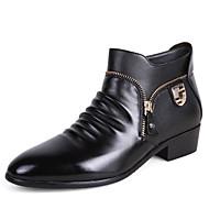 Kényelmes-Lapos-Női cipő-Csizmák-Alkalmi-PU-Fekete