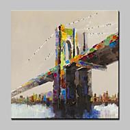 billiga Landskapsmålningar-Hang målad oljemålning HANDMÅLAD - Landskap Moderna / Europeisk Stil Inkludera innerram