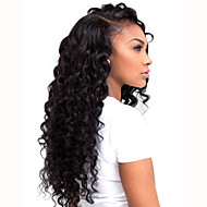 HOT Long Curly Black Synthetic L Part Lace Wig Top Quality Heat Resistant Fiber Synthetic Hair For Women