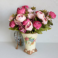 cheap Artificial Flowers-1PCS Artificial Peony Silk Flowers Bouquet Home Wedding Decoration