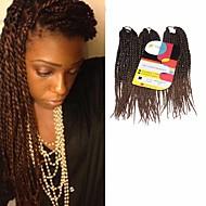 """Twist pletenice Senegal Kanekalon Srednje smeđa  / Srednja Auburn Ekstenzije za kosu 12"""" Sušilo za pletenice"""