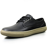Men's Sneakers Spring Summer Fall Winter Comfort Nappa Leather Office & Career Casual Party & Evening Black