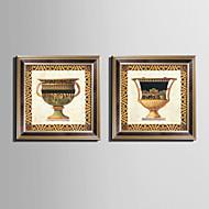 Stilleben Innrammet Lerret Innrammet Sett Veggkunst,PVC Materiale Brun Ingen Passpartou med ramme For Hjem Dekor Rammekunst