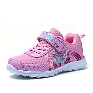 baratos Sapatos de Menina-Para Meninas Sapatos Tule Outono Conforto Tênis Caminhada Presilha para Roxo / Rosa claro