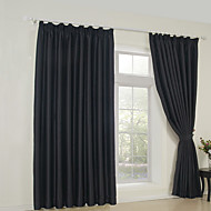 Rod Pocket Grommet Top Tab Top Double Pleat Two Panels Curtain Neoclassical Solid Bedroom 65% Rayon/35%Polyester Rayon Material Blackout