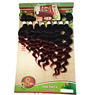 8-14inch 8 pcs /lot Brazilian loose wave ombre burgundy Virgin Hair Brazilian Virgin Hair loose wave Hair Weave Bundles cheap human hair
