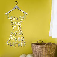 Palavras e Citações Adesivos de Parede Autocolantes de Parede Espelho Autocolantes de Parede Decorativos, Vinil Decoração para casa