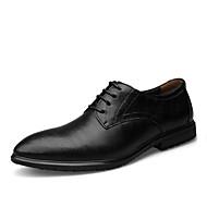 Masculino sapatos Couro Envernizado Primavera Verão Outono Inverno Sapatos formais Conforto Oxfords Cadarço Para Casamento Casual Social