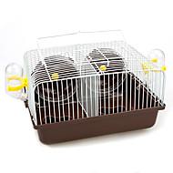 billige TIlbehør til smådyr-Gnavere Hamster Plast Metal Multi-funktion Bur Kaffe Blå Lys pink