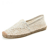 Women's Loafers & Slip-Ons Espadrilles Light Soles Summer Fall Lace Cotton Casual Party & Evening Office & Career Flower Gore Flat Heel