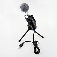 2017 nye usb nyttig hot wired high kvalitet stereo kondensatormikrofon med holder clips til chatter karaoke bærbar pc