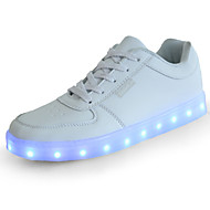 Girls' Shoes PU Spring Fall Light Up Shoes Comfort Novelty Sneakers LED For Casual Outdoor Black White
