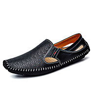 Men's Shoes PU Spring Fall Comfort Driving Shoes Loafers & Slip-Ons For Outdoor White Black Yellow Blue