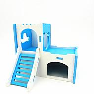 preiswerte Accessoires für Kleintiere-Nagetiere Chinchillas Hamster Holz Ställe Gelb Grün Blau Rosa