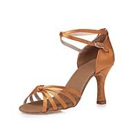 baratos Sapatilhas de Dança-Mulheres Latina Tênis de Dança Moderna Sapatos de Swing Salsa Cetim Salto Interior Espetáculo Profissional Iniciante Ensaio/Prática