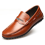Men's Shoes Leather Winter Spring Summer Fall Comfort Moccasin Fashion Boots Loafers & Slip-Ons Ruffles for Casual Outdoor Office &