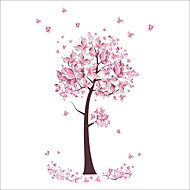 ZOOYOO® Pink Butterfly Tree Removable Wall Stickers Window Sticker Art Decals Mural DIY Wallpaper for Room Decal