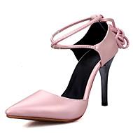 Női Magassarkúak Boka pántos Club cipő Bőrutánzat Tavasz Nyár Ősz Tél Hétköznapi Ruha Party és Estélyi Boka pántos Club cipő Fűző Stiletto