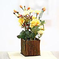 1 Gren Plastikk Bordblomst Kunstige blomster