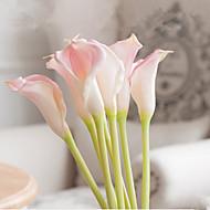 7 ramos 3 clor tamanho grande pu calla lily decoram flores artificiais