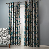 billige Forede Gardiner-Stanglomme Propp Topp Fane Top Dobbelt Plissert To paneler Window Treatment Land , Trykk Soverom Polyester Materiale gardiner gardiner