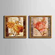 cheap Framed Arts-E-HOME® Framed Canvas Art Rose Retro Effect Framed Canvas Print Set One Pcs