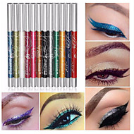 cheap Eye Shadows-12 Colors Professional Make Up Eye Shadow Lip Liner Eyebrow Glitter Eyeshadow Eyeliner Pencil Pen Cosmetic Makeup Set Kit Tools