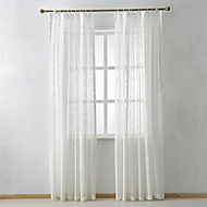 cheap Sheer Curtains-Curtains Drapes Bedroom Solid Colored Linen/Polyester Blend Jacquard