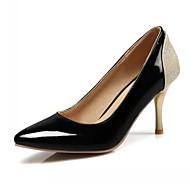 olcso -Kényelmes-Stiletto-Női cipő-Magassarkúak-Irodai Ruha Alkalmi-Bőrutánzat-Fekete Piros Mustár