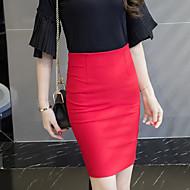 Žene Veći konfekcijski brojevi Bodycon Rad Suknje - Jednobojni, S izrezom